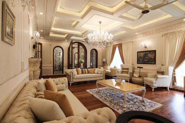 Classic Interior Design Of A Living Room Interior Design