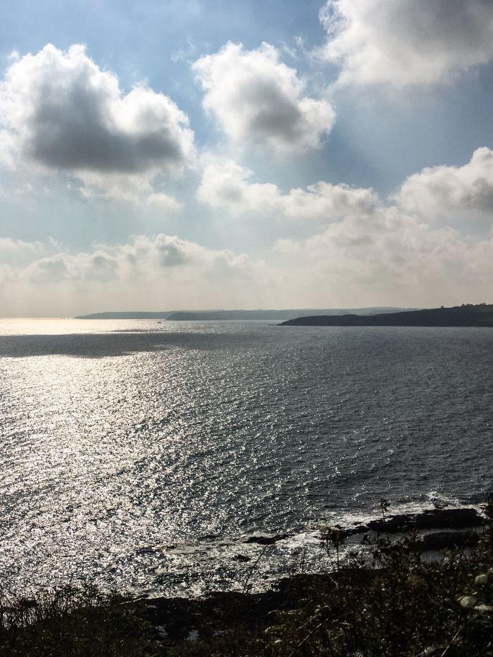 Sea view, Cornwall in autumn