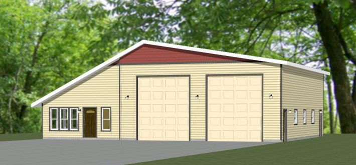 . 56x48 2 RV Garage     56X48G1C    2 649 sq ft   Farm House