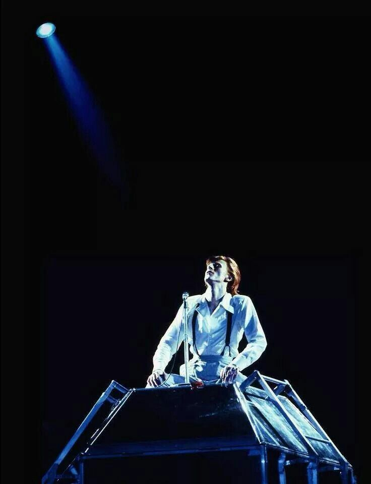 David Bowie on the Diamond Dogs Tour