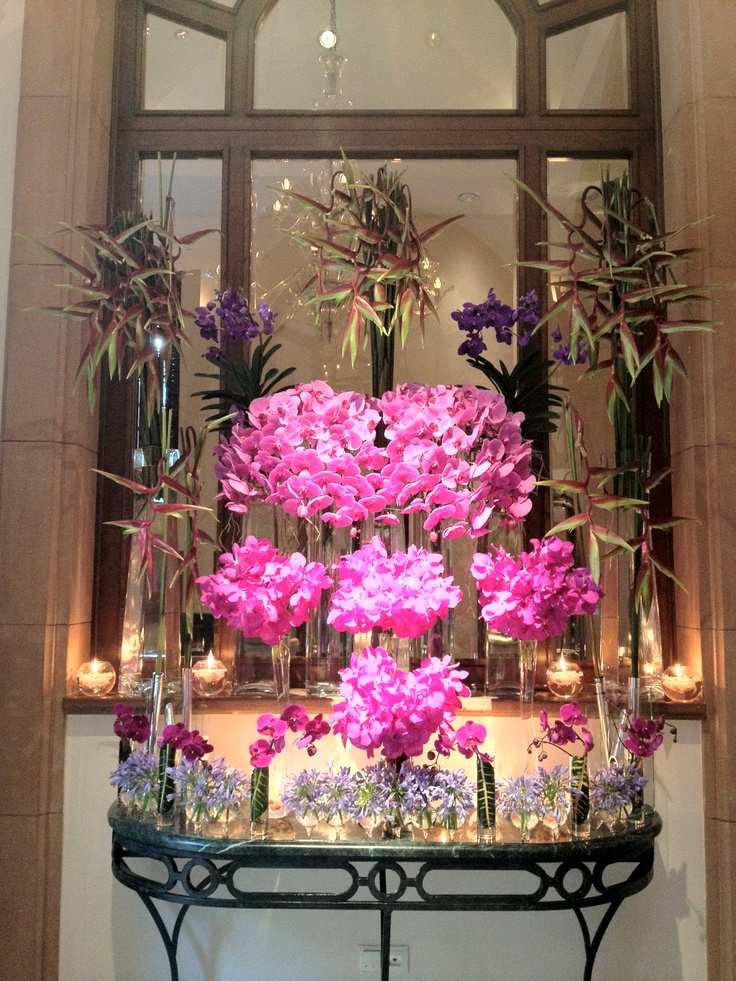 @Four Seasons Hotel Istanbul at Sultanahmet is pretty in pink orchids