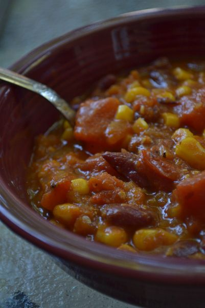 Recipe for vegan, gluten free pumpkin chili.  Good for the Daniel Fast.