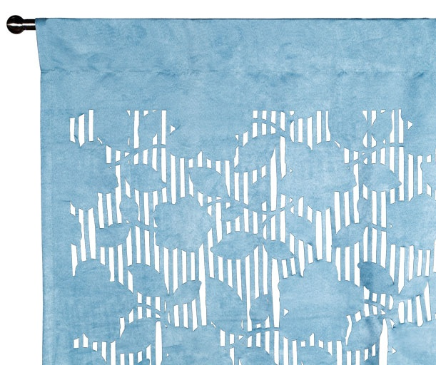 Rideau - ROSEWOOD - Rideau bleu clair 140 x 270 cm laser cut pattern have ordered it ! update :  turns out the color is completely not this blue