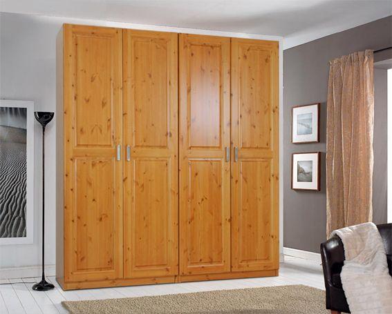 Cabina armadio 4 porte con struttura in legno di pino ...