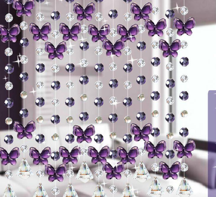 guarnição de cortina de contas de cristal,cortinas de cuentas ...