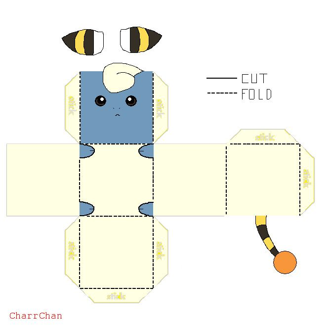 This Is A Simple And Easy Papercraft It Looks Real Cute When Its Done Sticking The Ears On Stick Them Glue Tabs So That You Cant See W