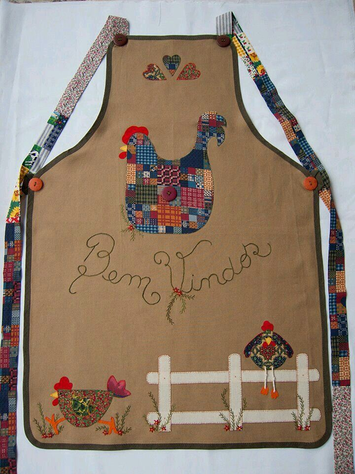 1183 best images about delantales on pinterest jean apron chef apron and apron patterns - Patchwork para cocina ...