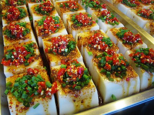 Hot and spicy cold jelly bricks 香辣涼粉 Chengdu, Sichuan