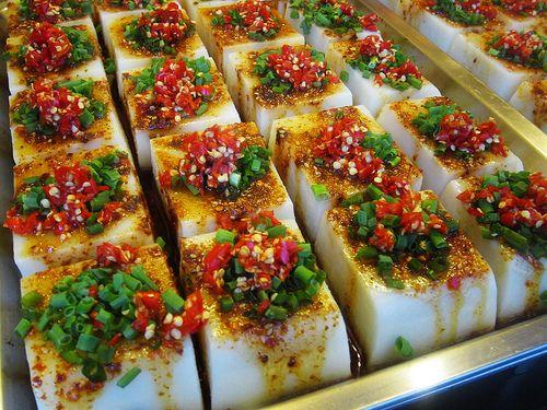 Hot and spicy cold jelly bricks 香辣涼粉 Chengdu, Sichuan, China 四川 成都