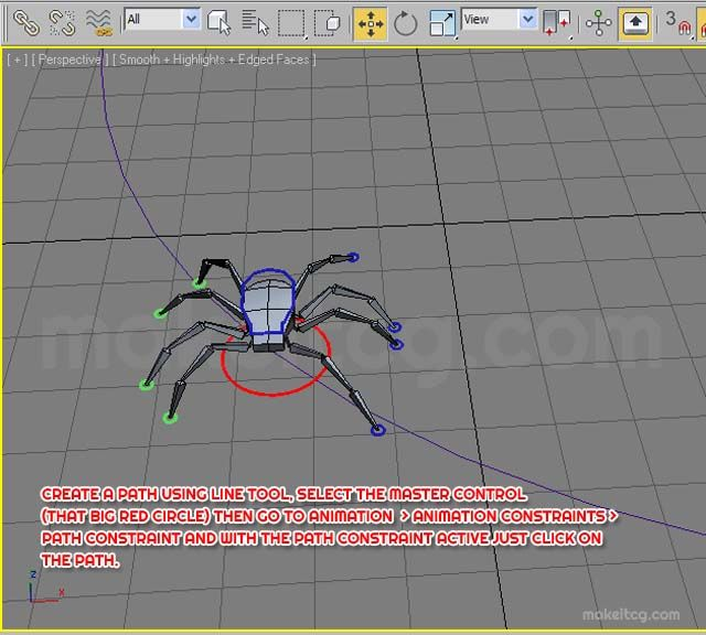 In this detailed tutorial you will be learning how to animate an eight legged spider walk cycle in 3ds max.