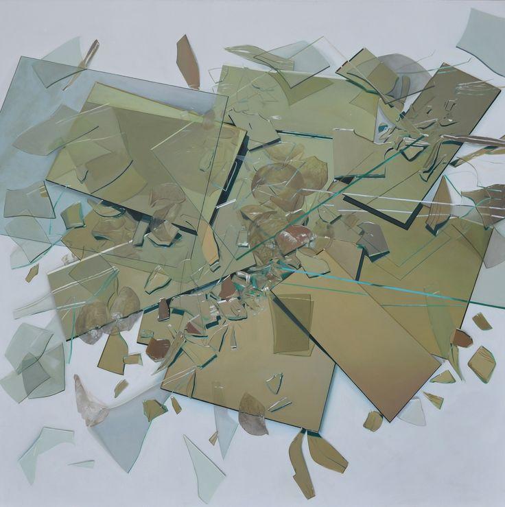 Szkło, 115 x 115 cm, olej na płótnie, 2013