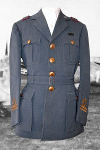 Aeronautica Nazionale Republicana RSI ANR service dress uniform to a Lieutenant of the Italian Air Force Pioneers
