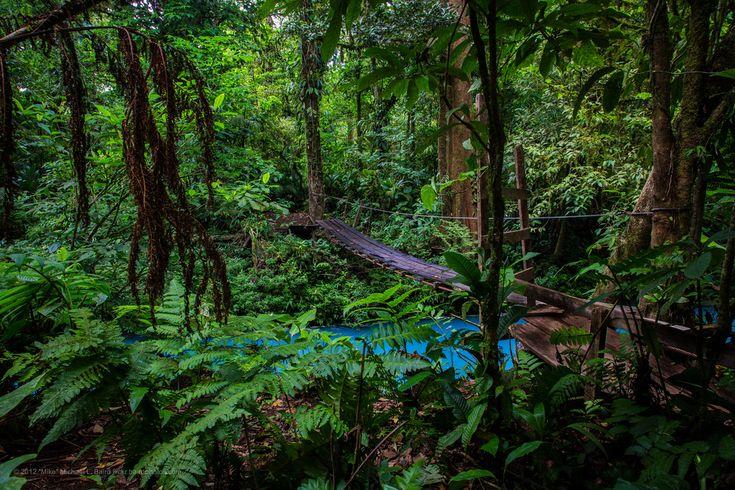 Park Narodowy Wulkanu Tenorio  Parque Nacional Volcán Tenorio (Park Narodowy Wulkanu Tenorio) jest częścią Obszaru Chronionego Arenal Tilaran. Jego główna atrakcja, czyli wulkan Tenorio jest położony około 42 km na północny wschód od miasteczka Fortuna. Składa się z 4 szczytów i dwóch kraterów. Zbocza porośnięte są lasem deszczowym lub mglistym. Na wulkan można się dostać ścieżką Lago Las Dantas, która wije się przez zielone połacie i dociera aż do kraterów.