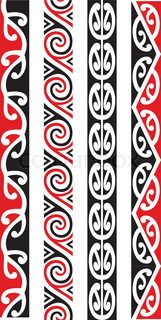 Four Seamless Maori Patterns