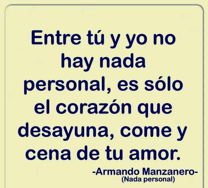 Nada personal. Armando Manzanero y Lisset.