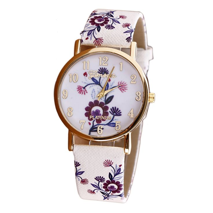 Flower Patterns Leather Watch     Tag a friend who would love this!     FREE Shipping Worldwide     Get it here ---> https://www.1topick.com/flower-patterns-leather-watch/