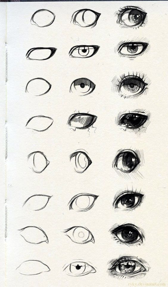 How To Draw An EYE – 40 Amazing Tutorials And ExamplesHighTown