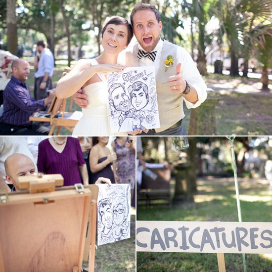 I so want caricatures done at my wedding... I wonder if he will let me...