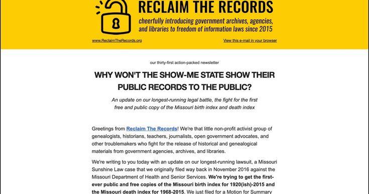 missouri department of health and senior services bureau of vital records