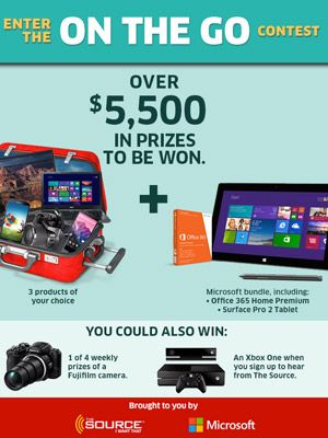Win Over $5,500 in Prizes from The Source