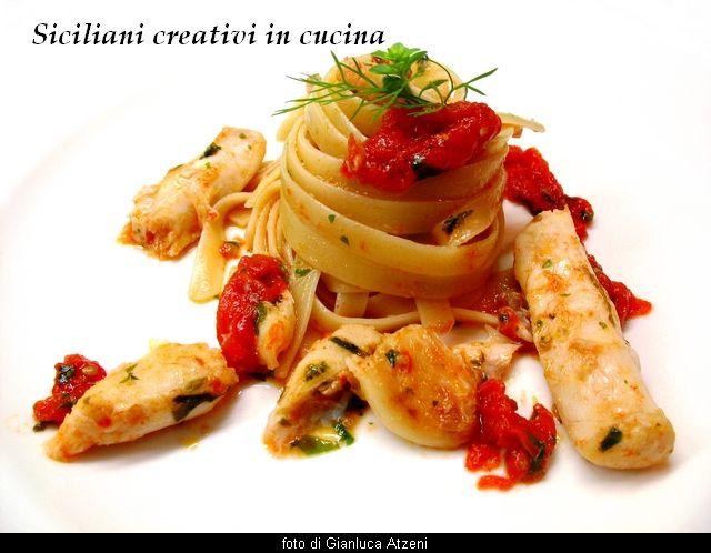Linguine con ragù di spatola (pesce bandiera)   SICILIANI CREATIVI IN CUCINA  