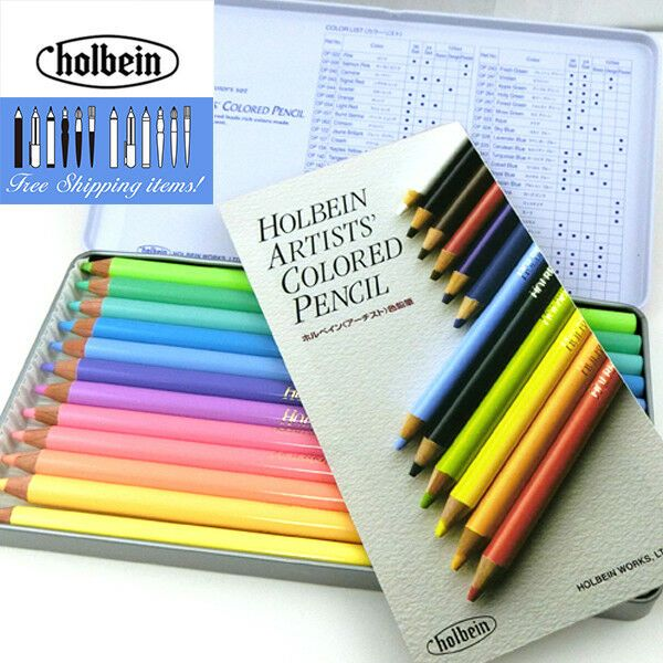 Holbein Artist Colored Pencils 12 Colors Pastel Tone Set Op903