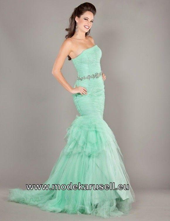 Mint Grünes Meerjungfrauen Abendkleid Online Bestellen