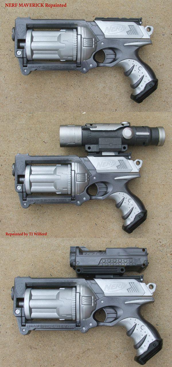 Nerf Maverick gun Repainted by ~Unicron9 on deviantART