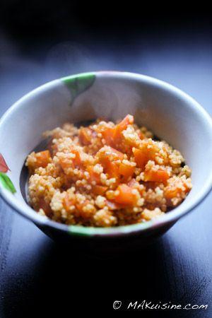 Semoule aux carottes Parfaite pour accompagner les viandes blanches