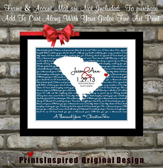First Dance Song Lyric Personalized Wedding Gift