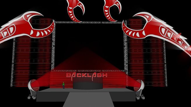 Large preview of 3D Model of WWE Backlash 2009 Stage