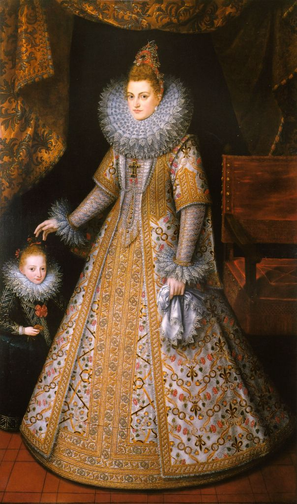 Frans Pourbus the Younger The Infanta Isabella Clara Eugenia Archduchess of Austria c.1598-1600