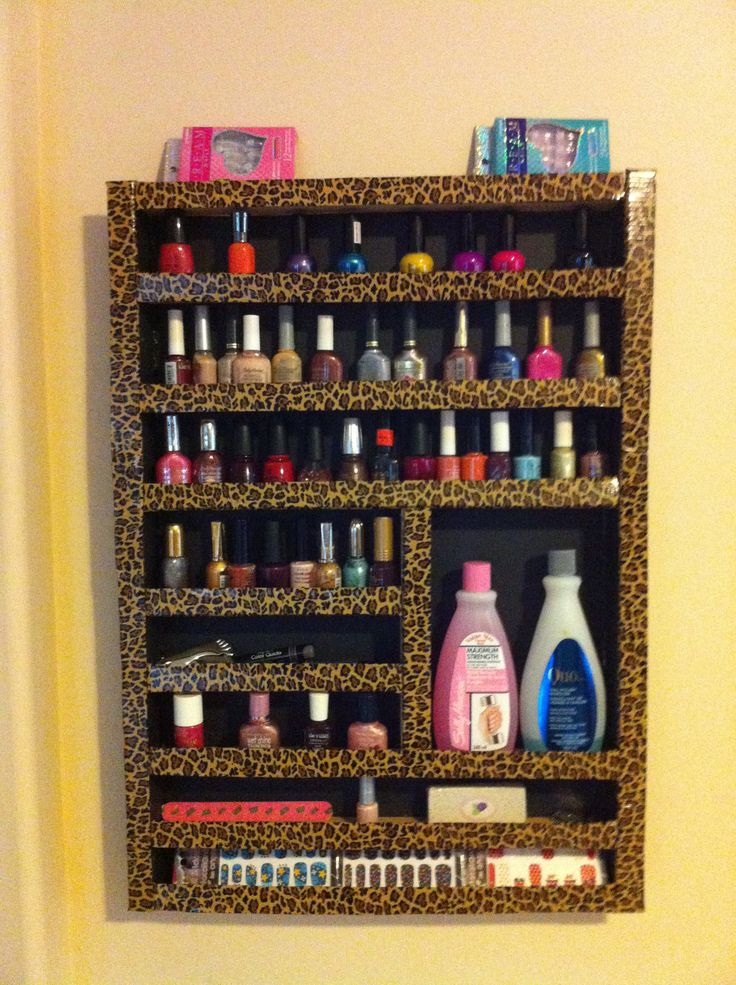 DIY Nail Polish Shelf- I love the layout of this compared to others I have seen