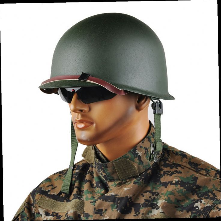 46.04$  Buy now - http://alijft.worldwells.pw/go.php?t=32703562169 - Repro Men's WW2 US Army M1 Helmet Stainless Steel Army Green with Camouflage Net FC 46.04$