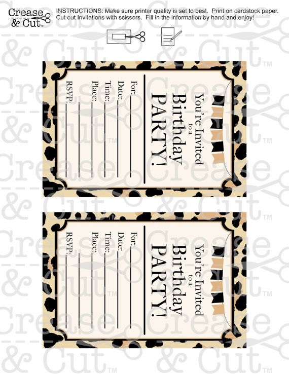 ♥DIY Leopard Print, Cheetah Print, Birthday Party Decorations Package Digital Printable PDFs With Banner Numbers♥ INSTANT DOWNLOAD These leopard print party decorations will really stand out for your next birthday!! It is a PRINTABLE PDF party decoration package that is easy to put
