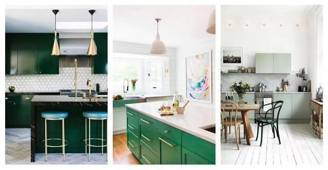 Kuchnie pełne życia, dzięki zastosowaniu koloru zielonego - galeria zdjęć #ZIELONA KUCHNIA #KUCHNIA #INSPIRACJE