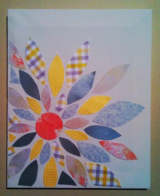 Scrap paper and canvas flower!