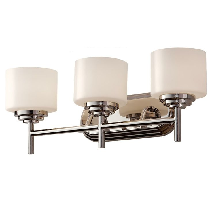 Feiss Malibu 3 Light Vanity Fixture in Polished Nickel Finish in Brands  Feiss Lighting. 1000  images about Bath Lighting We Like on Pinterest   Sconce