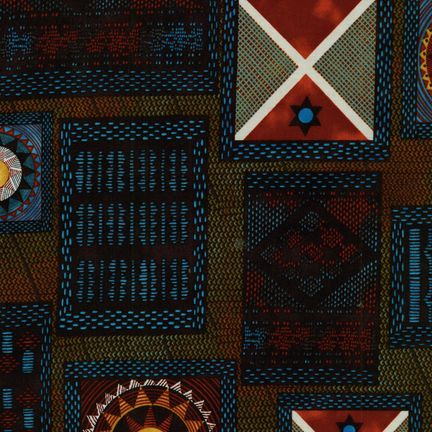 Robert Kaufman Fabrics: ETJ-6354-62 INDIGO from Native Arts