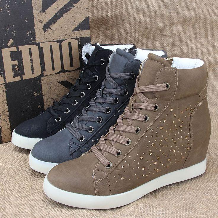 Улица выстрелил выше в весенние и осенние спортивные туфли Модные новые хорошее качество удобные вскользь Ботинки плюс волосы теплой обуви - Taobao