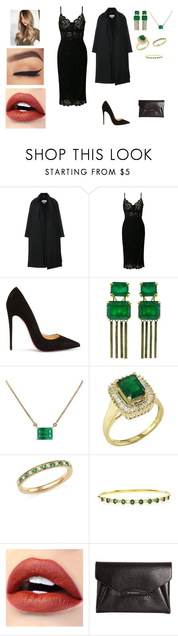 """""""Untitled #1565"""" by sporteousgregory ❤ liked on Polyvore featuring Loewe, Dolce&Gabbana, Christian Louboutin, Sylva & Cie, Effy Jewelry, Bloomingdale's and Givenchy"""