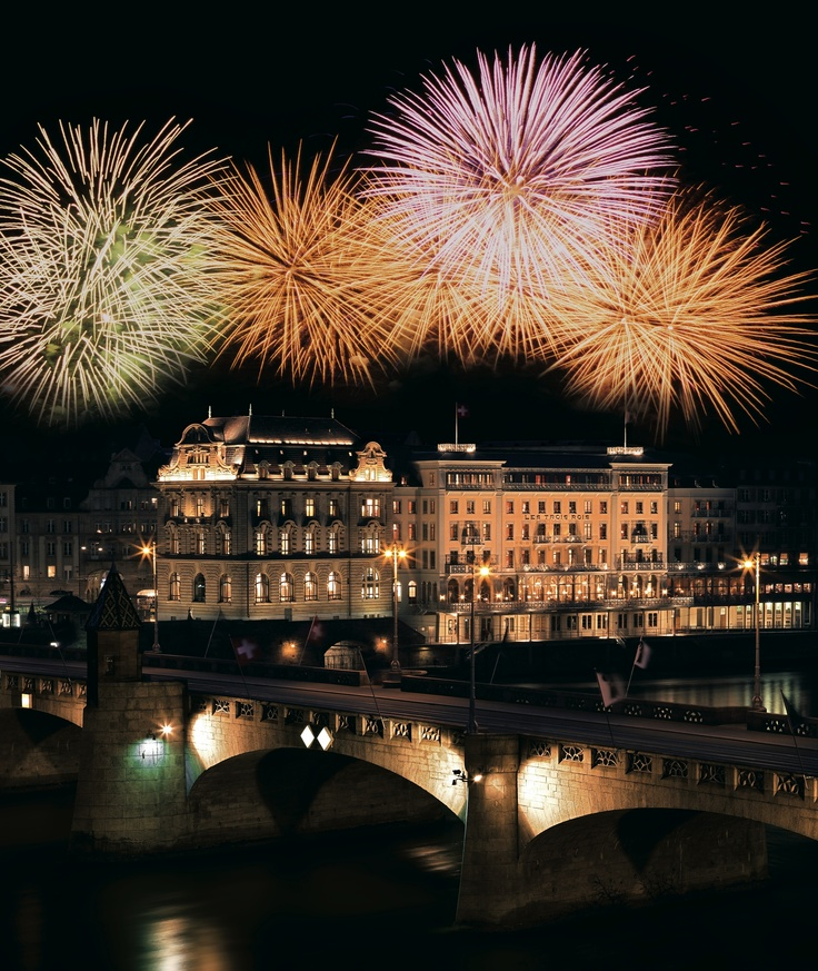 Wonderful fireworks above the hotel!