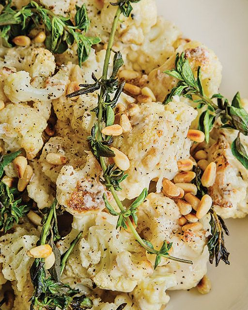 Roasted Cauliflower Salad with Tahini and Oregano