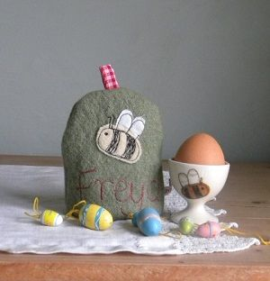 Personalised Bee Egg Cosy - How cute! :)
