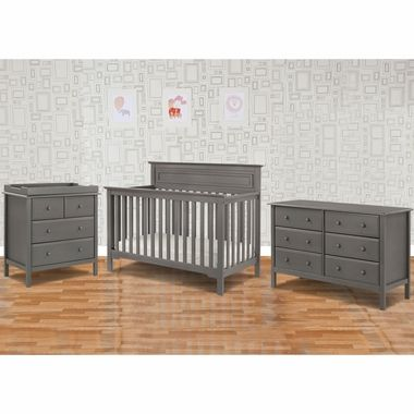 DaVinci 3 Piece Nursery Set - Autumn 4 in 1 Convertible Crib, Changer and Jayden 6 Drawer Dresser in Slate FREE SHIPPING
