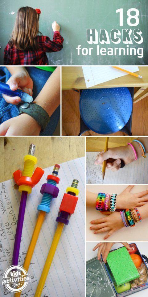 kids hacks for learning... Fidget pencils, bracelets, seats oh my!