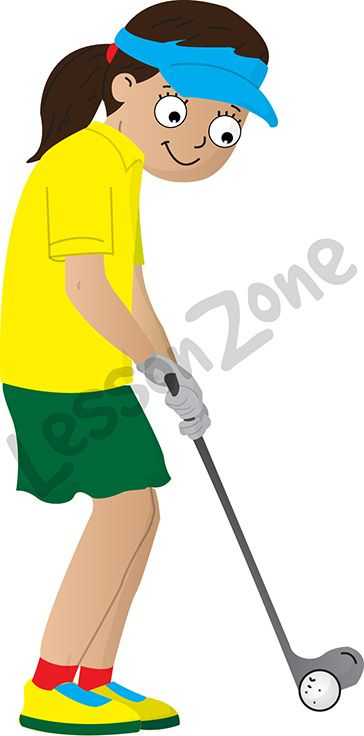 "This illustration, ""Golf player"" is available in PNG format at 300 DPI resolution with a transparent background for classroom use.   For your download, visit lessonzone.com.au"