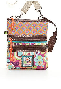 Lily Bloom crossbody. Made from recycled plastic bottles, and adorable!
