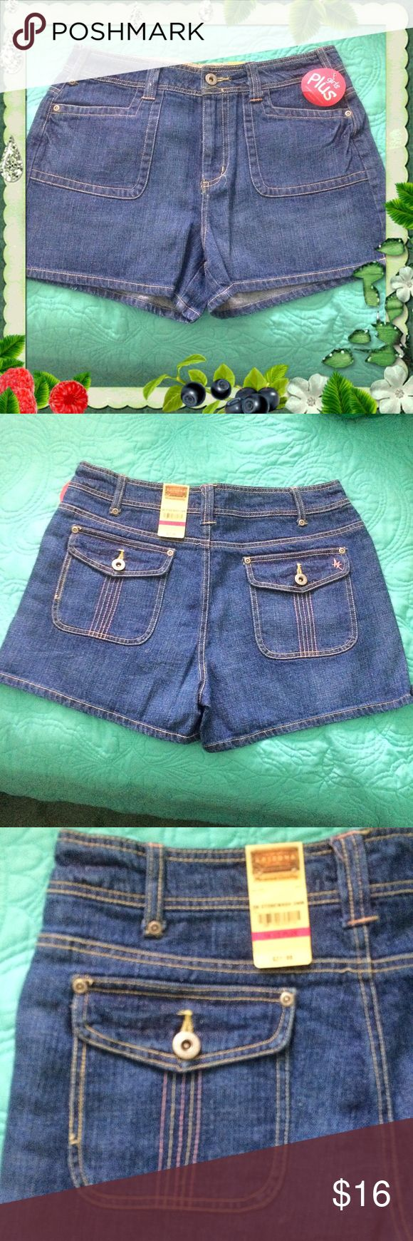 """Arizona Stonewashed Denim Shorts NWT / Plus 14 1/2 Arizona Stonewashed Denim Shorts - New with tags - Plus 14 1/2 - Waist 32"""" to 33"""" - Two front pockets - Two back pockets. Please feel free to make an offer - Enjoy BIG discounts on bundles & save $$$ on shipping! I do not comment to my buyers after their purchases for privacy reasons - If you would like to know that I received your order ask on the listing & I will respond.  I ship fast & package safely! TY 💜💜💜 A5 Arizona Jean Company…"""
