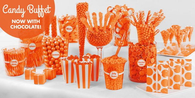 Orange Candy Buffet Supplies - Orange Candy & Containers - Party City
